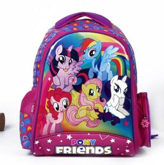 2016 New kids cartoon my little pony schoolbag girls lovely Backpack Schoolbag For Kids Children Christmas Gift Bags - intl Price Philippines