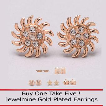 Jewelmine Sunny 18k Gold Plated Earrings (Buy One Take Five) Price Philippines