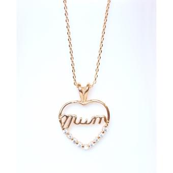Harga Athena & Co. 22k Gold Plated Mom Necklace