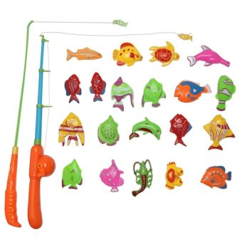 Harga Kids Magnetic Fishing Game with Fish Rod Early Educational Toy - intl
