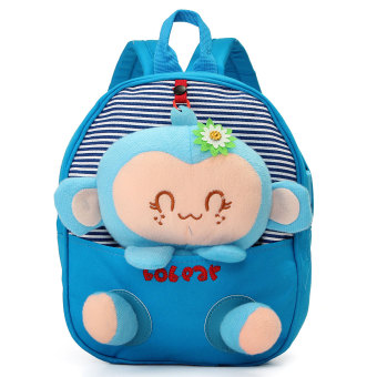 Kids Children Toddler Canvas Backpack Schoolbag Shoulder Bag Girl Boy Handbag Sky Blue - Intl Price Philippines