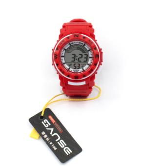 Sanse Water resistant Kid's Watch TPU resin Strap s-623 Red Price Philippines