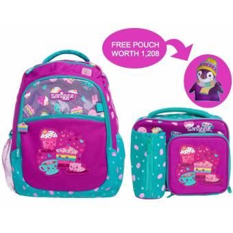 Harga smiggle city backpack set