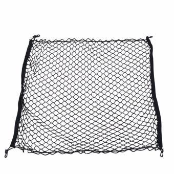 100 x 80cm Universal Car Trunk Luggage Storage Cargo Organiser Nylon Elastic Mesh Net With 4 Plastic Hooks - intl