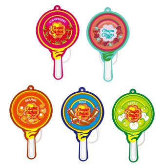 Chupa Chups Lollipop Paper Air Freshener Watermelon/Strawberry/Orange/Cola/Apple Bundle of 5 Price Philippines