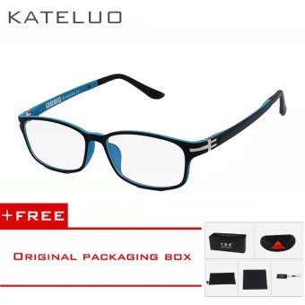 KATELUO TUNGSTEN Computer Goggles Anti Fatigue Radiation-resistant Glasses Eyeglasses Frame Eyewear Spectacle Oculos 13028 (Blue) [ Buy 1 Get 1 Freebie ] Price Philippines