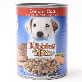 Harga Kibbles 'n Bits Burger Dinner with Bacon and Chiz 374g ( 6 cans / box)