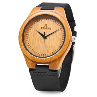 Harga REDEAR Simple Dial Unique Natural Bamboo Wristwatch Daily Water Resistant High-end Man Quartz Watch for Wedding Anniversary - intl