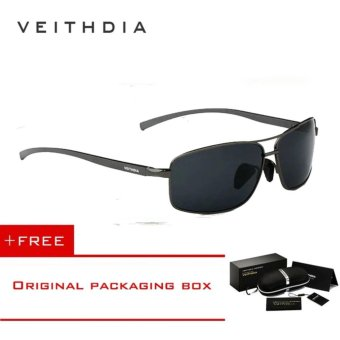 VEITHDIA Brand New Polarized Men's Sunglasses Aluminum Frame Sun Glasses Driving Eyewear Accessories For Men oculos de sol masculino 2458(Grey) [ Buy 1 Get 1 Freebie ] - intl Price Philippines
