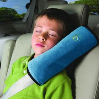 Harga Child Safety Head Rest Pillow for Seat Belt - Blue