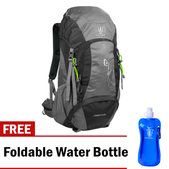 Rhinox 002 Mountaineering Bag (Light Gray/Charcoal) with Free Foldable Water Bottle Price Philippines