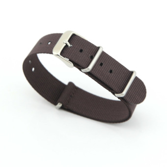 Nylon Watch Band Strap Replacement Watch Belt 22mm For Man or Woman(Brown) Price Philippines