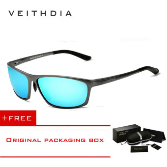 VEITHDIA Brand Polarized Aluminum Magnesium Wrap Men's Sun glasses Male Sport Outdoor Sunglasses Mirror Eyewear For Men 6520��Blue�� [ Buy 1 Get 1 Freebie ] Price Philippines