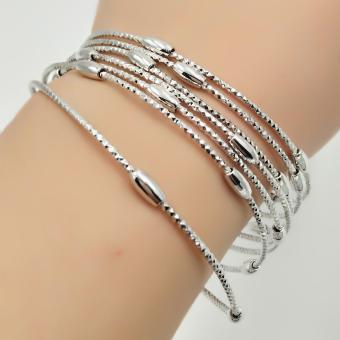 Harga Fantasy Stainless 7days Bangles AC1006 (silver)