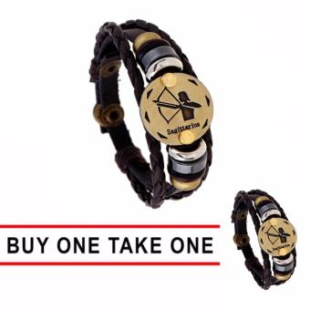 GMY Buy One Take One Men and Women Zodiac Sign Leather Bracelet (Sagittarius) Price Philippines