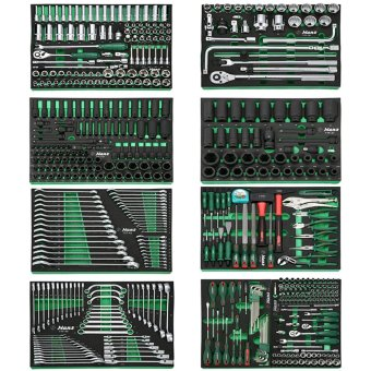 Harga Hans Tools GTT-520 Tool Set with Individual Trays 520pcs. (Silver/Black)
