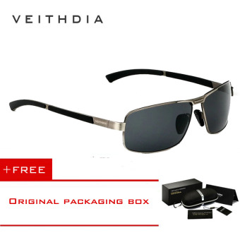 VEITHDIA Mens Sunglasses Polarized Lens Driver Glasses Driving Fishing Sunglass Eyewear Accessories For Men 2490 (Grey) [ Buy 1 Get 1 Freebie ] Price Philippines