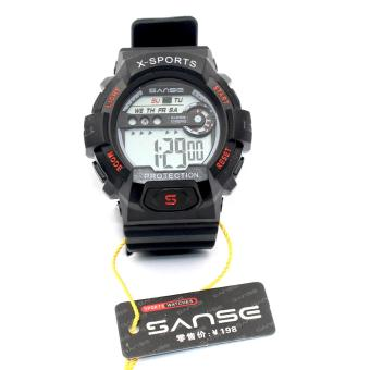 Sanse Water Resistant Uni-sex Watch TPU resin Strap-636 BLACK Price Philippines