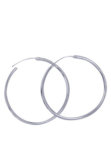 Surface Pure Silver Plated Round Big Large Hoop Huggie Loop Alloy Earrings Price Philippines