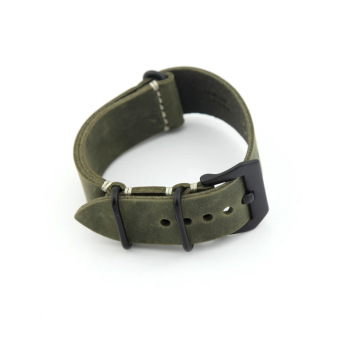Leather Replacement Watch Band Strap Belt 24mm for Man or Woman (Dark Green) Price Philippines