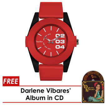 Harga UniSilver TIME The Voice Kids Darlene Vibares Red Analog Rubber Watch KW1512-2011 WITH FREE ALBUM in CD