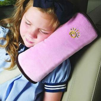 Harga Child Safety Head Rest for Seat Belt - Pink