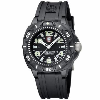 Harga Luminox Men 0201.SL Sentry 0200 Black Case With Luminescent AccentsBlack Rubber Band Watch