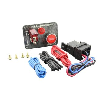 Harga one key Start 12V LED Toggle Ignition Switch Panel Engine Start Push Button