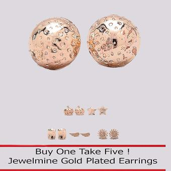 Jewelmine Circle 18k Gold Plated Earrings (Buy One Take Five) Price Philippines