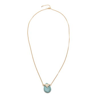 Athena & Co. Sea Turquoise Necklace (Gold/Turquoise) Price Philippines