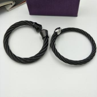 Harga Fantasy Stainless Steel Couple Spiral Bangles AC10023