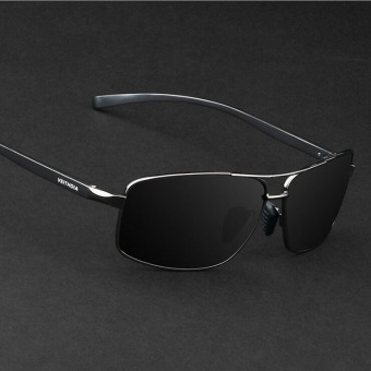 VEITHDIA 2458 Polarized Sunglasses Men black frame gray lens Price Philippines