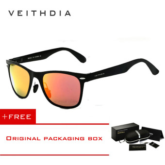 VEITHDIA Aluminum Men's Polarized Mirror Sun Glasses Male Driving Fishing Outdoor Eyewears Accessories Sunglasses For Men 2140(Red) [ Buy 1 Get 1 Freebie ] Price Philippines