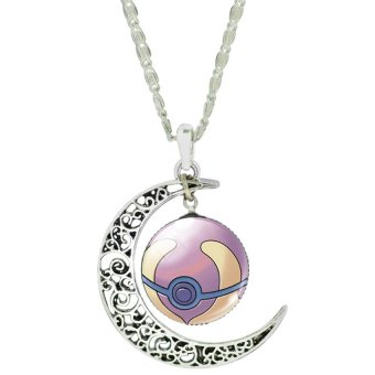 Women Fashion Pokemon Pokeball Pendant Necklace (C) Price Philippines