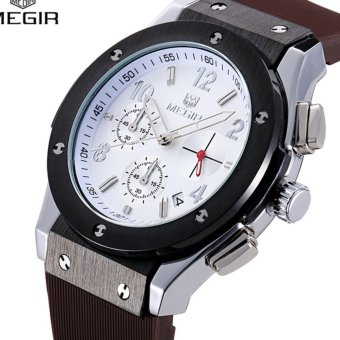 MEGIR hot sale brand chronograph sports men quartz watches - intl Price Philippines