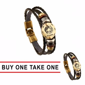 GMY Buy One Take One Men and Women Zodiac Sign Leather Bracelet (Pisces) Price Philippines