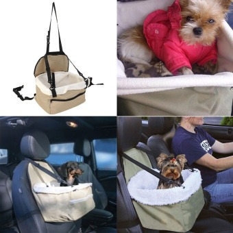 Harga Quality Soft Pet Dog Puppy Cat Car Seat Carrier Car Auto Vehicle Leash