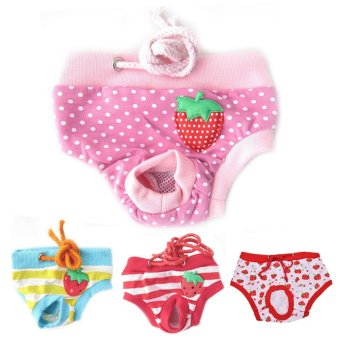 Dog Physiological Pantspet Nappy Diaper Underwear Female Short Puppy Panties Pink L - intl Price Philippines