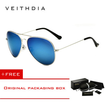 VEITHDIA Brand Classic Fashion Polarized Sunglasses Men/Women Colorful Reflective Coating Lens Eyewear Accessories Sun Glasses 3026(Silver blue) [ Buy 1 Get 1 Freebie ] Price Philippines