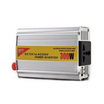 Harga 300W DC 12V to AC 220V Car Power Inverter (Silver)