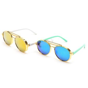 Harga Fashionable Avi Eye Kids Sunglasses Set of Two BGreen/White Frame