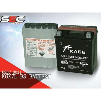 Harga Kage KGX7L-BS Motorcycle Battery 12V, 7Ah
