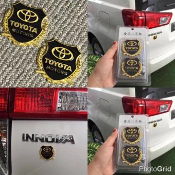 2pcs High Quality 3D Golden Emblem Badge for Toyota Cars Price Philippines