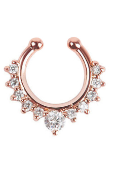 Jetting Buy Nose Ring Fake Septum Clicker Non Piercing Rose Gold Price Philippines