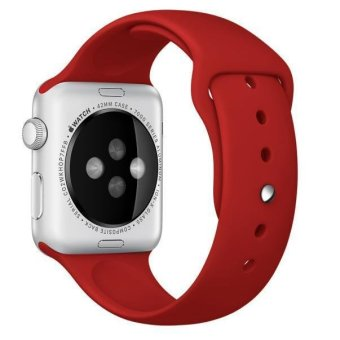 Harga Sport Silicone Bracelet Strap Band For Apple Watch iwatch 42mm (Red)