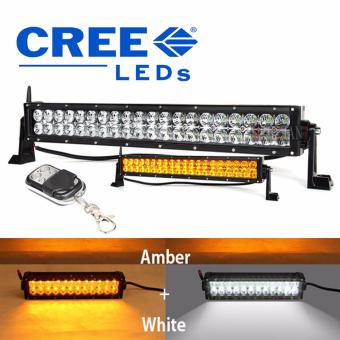 Harga 21.5 inch Wireless Bar light with Remote Control Led Light Bar Wireless Remote Control Amber+White Work Driving 180W 4x4 Offroad Bar 12V Warning Flash light for toyota honda kia suzuki ford bmw chevrolet mitsubishi nissan mazda