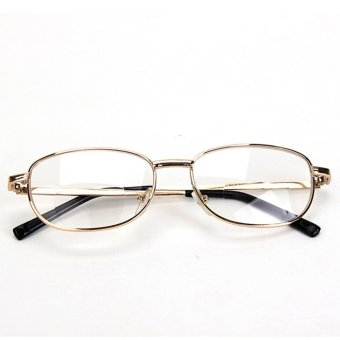 Harga Fashion Bifocal Lens Rimmed Men's Reading Glasses Gold Metal Frame