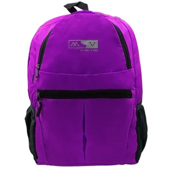 MV Unisex Travel Foldable Backpack (Violet) Price Philippines