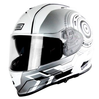 Harga Origine Italy Full Face OR 00084 GT TEK SILVER FLUO Helmet (2017 Collection) - XXL