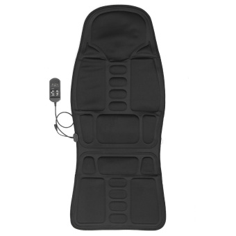 Car Chair Body Massage Heat Mat Seat Cushion Neck Pain Lumbar Support Pad Back - intl Price Philippines